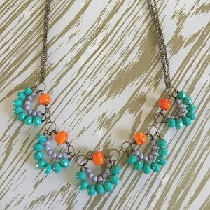 Jewelry - Orange and teal necklace